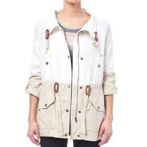 BLU PEPPER color block jacket